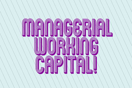 Handwriting text Managerial Working Capital. Concept meaning Shortterm liabilities and shortterm assets Blank Pastel Rectangle with Diagonal Seamless Straight Dotted Lines photo