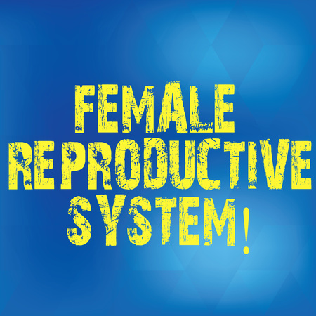 Writing note showing Female Reproductive System. Business photo showcasing responsible in reproduction of new offspring Blurry Light Flashing Glaring with Diamond Shape on Hazy Blue Space Stock Photo