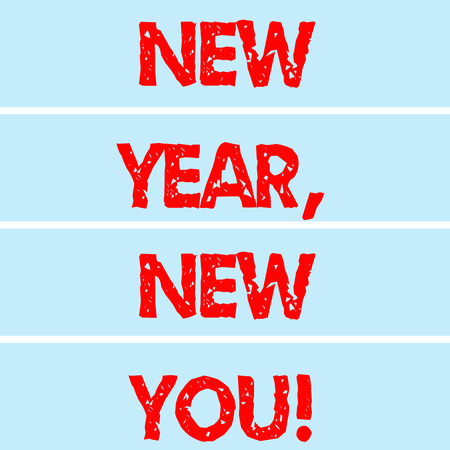 Handwriting text writing New Year New You. Concept meaning 365 days of opportunities to change your expectations Rectangular Color Label Strips Blank Text Space for Presentation Posters