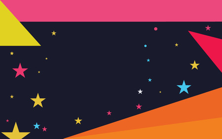 Flat design business Vector Illustration concept Empty template space text For promotion website and advertising Ad. Starry Pattern of Scattered Little Stars like Colorful Confetti in the sky