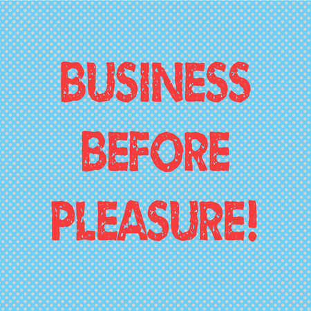 Word writing text Business Before Pleasure. Business concept for work is more important than entertainment Seamless Polka Dots Pixel Effect for Web Design and Optical Illusion