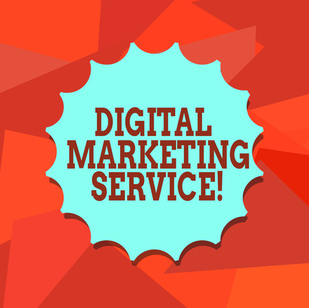 Word writing text Digital Marketing Service. Business concept for services using digital channels to reach consumers Blank Seal with Shadow for Label Emblem Monogram Stamp Symbol Best Quality Imagens