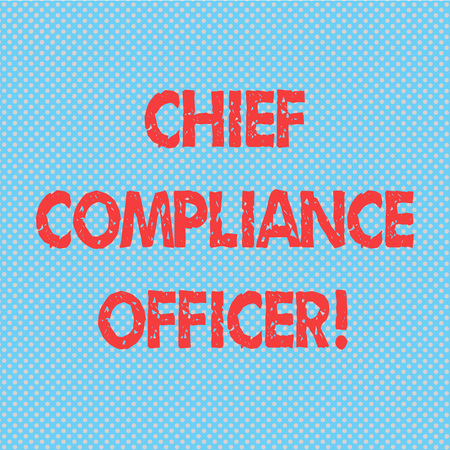 Word writing text Chief Compliance Officer. Business concept for oversees the Corporate Compliance Program Seamless Polka Dots Pixel Effect for Web Design and Optical Illusion