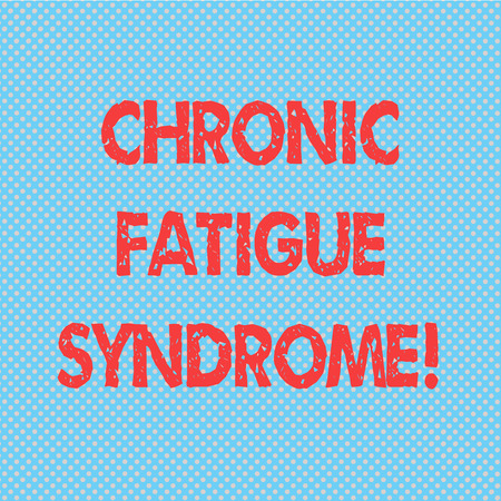 Word writing text Chronic Fatigue Syndrome. Business concept for debilitating disorder described by extreme fatigue Seamless Polka Dots Pixel Effect for Web Design and Optical Illusion