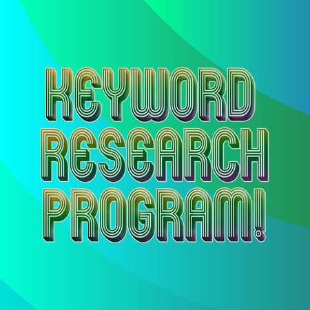 Writing note showing Keyword Research Program. Business photo showcasing Fundamental practice in search engine optimization Blank Diagonal Curve Strip Monochrome Color in Seamless Repeat Pattern