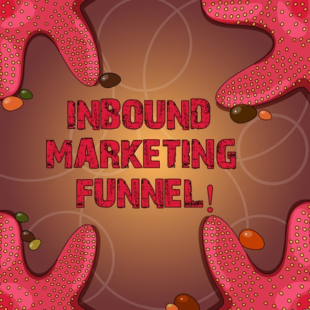 Text sign showing Inbound Marketing Funnel. Conceptual photo process of attracting a large amount of prospects Starfish photo on Four Corners with Colorful Pebbles for Poster Ads Cards Stock Photo