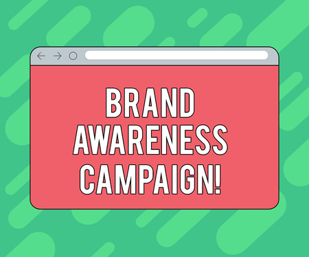 Conceptual hand writing showing Brand Awareness Campaign. Business photo showcasing How aware consumers are with your products Monitor Screen with Progress Control Bar Blank Text Space