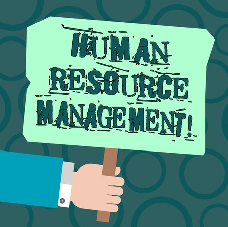Text sign showing Huanalysis Resource Management. Conceptual photo process of hiring and developing employees Hu analysis Hand Holding Blank Colored Placard with Stick photo Text Space Stock Photo