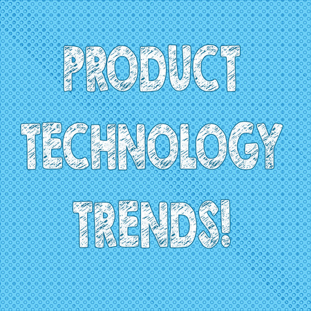 Writing note showing Product Technology Trends. Business photo showcasing Readily accepted in the market Becoming popular Seamless Polka Dots Pixel Effect for Web Design and Optical Illusion