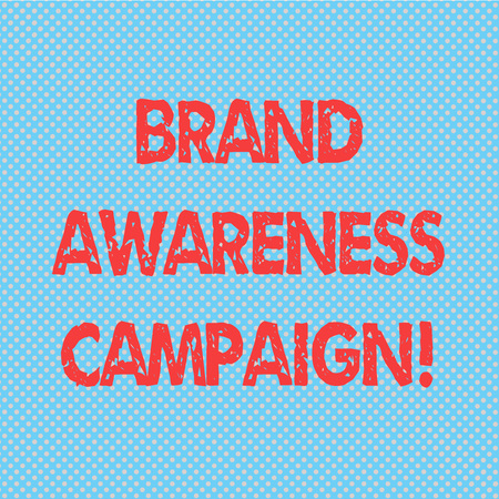 Word writing text Brand Awareness Campaign. Business concept for How aware consumers are with your products Seamless Polka Dots Pixel Effect for Web Design and Optical Illusion