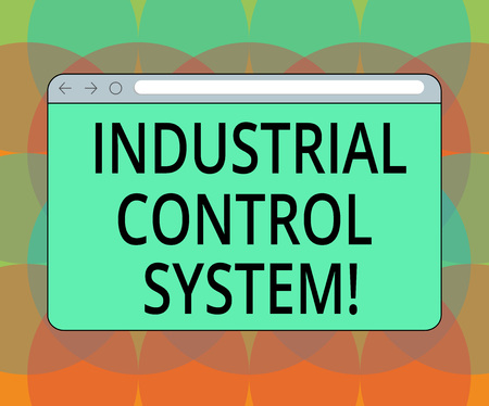 Word writing text Industrial Control System. Business concept for integration of hardware and software with network Monitor Screen with Forward Backward Progress Control Bar Blank Text Space Stock Photo
