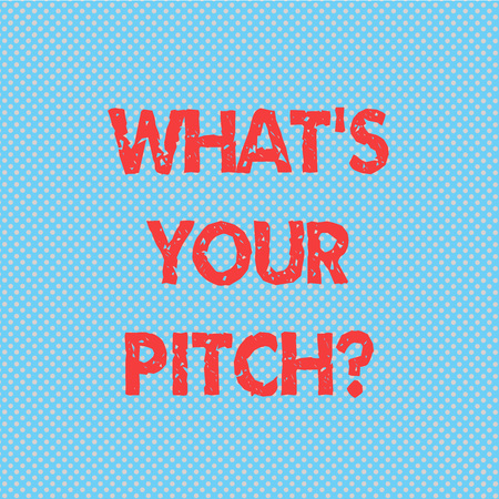 Word writing text Whats Your Pitch question. Business concept for make a determined effort to get something Seamless Polka Dots Pixel Effect for Web Design and Optical Illusion