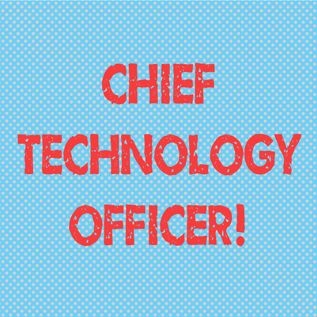 Word writing text Chief Technology Officer. Business concept for focused on scientific and technological issues Seamless Polka Dots Pixel Effect for Web Design and Optical Illusion