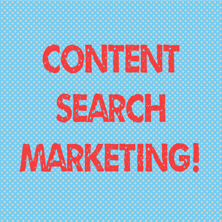 Word writing text Content Search Marketing. Business concept for promoting websites by increasing visibility search Seamless Polka Dots Pixel Effect for Web Design and Optical Illusion