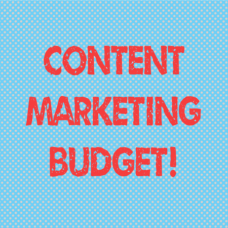 Word writing text Content Marketing Budget. Business concept for Promotional costs over a certain period of time Seamless Polka Dots Pixel Effect for Web Design and Optical Illusion