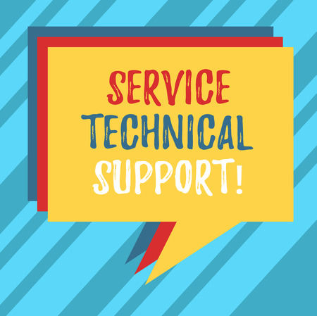 Text sign showing Service Technical Support. Conceptual photo services that entities provide to users of product Stack of Speech Bubble Different Color Blank Colorful Piled Text Balloon Stok Fotoğraf