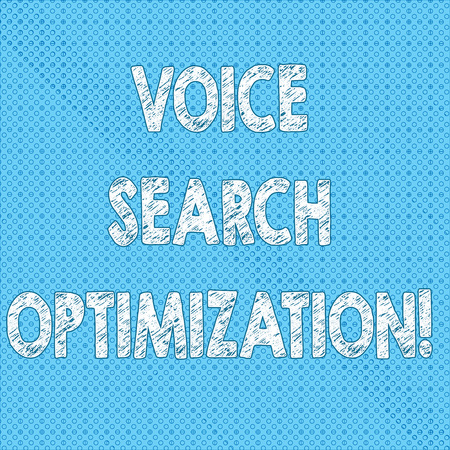 Writing note showing Voice Search Optimization. Business photo showcasing enhance web searching through spoken comanalysisds Seamless Polka Dots Pixel Effect for Web Design and Optical Illusion Reklamní fotografie