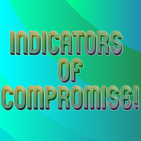 Writing note showing Indicators Of Compromise. Business photo showcasing artifact observed on a network Forensic data Blank Diagonal Curve Strip Monochrome Color in Seamless Repeat Pattern