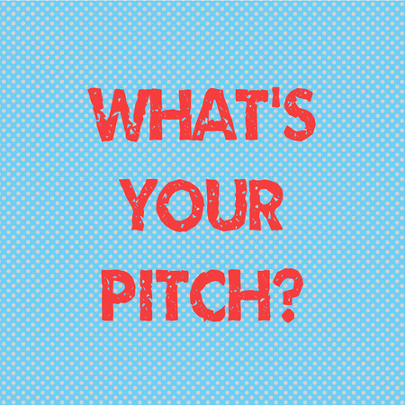 Word writing text What S Is Your Pitchquestion. Business concept for make a determined effort to get something Seamless Polka Dots Pixel Effect for Web Design and Optical Illusion Stock Photo