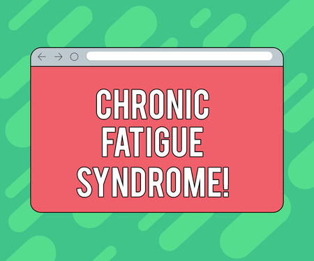 Conceptual hand writing showing Chronic Fatigue Syndrome. Business photo showcasing debilitating disorder described by extreme fatigue Monitor Screen with Progress Control Bar Blank Text Space 写真素材