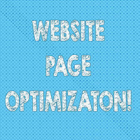 Writing note showing Website Page Optimization. Business photo showcasing Increase its search engine visibility and reach Seamless Polka Dots Pixel Effect for Web Design and Optical Illusion 写真素材
