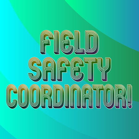 Writing note showing Field Safety Coordinator. Business photo showcasing Ensure compliance with health and safety standards Blank Diagonal Curve Strip Monochrome Color in Seamless Repeat Pattern Archivio Fotografico