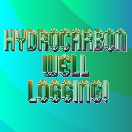 Writing note showing Hydrocarbon Well Logging. Business photo showcasing record of the geologic formations of a borehole Blank Diagonal Curve Strip Monochrome Color in Seamless Repeat Pattern