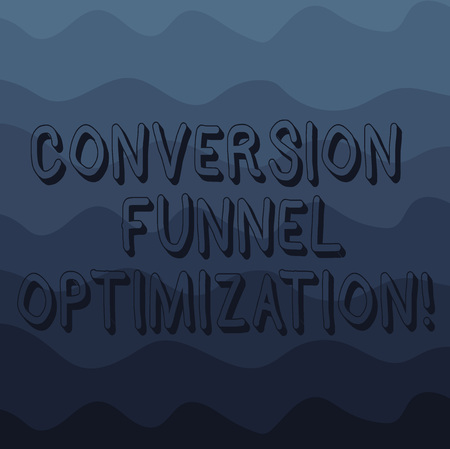 Handwriting text writing Conversion Funnel Optimization. Concept meaning thinking of advanced ways in online trading Wave photo Multi Toned Color Copy Space for Poster Advertisement Cards Archivio Fotografico