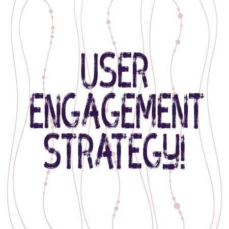 Text sign showing User Engagement Strategy. Conceptual photo Enhancing the job perforanalysisce of individuals Vertical Curved String Free Flow with Beads Seamless Repeat Pattern photo Imagens