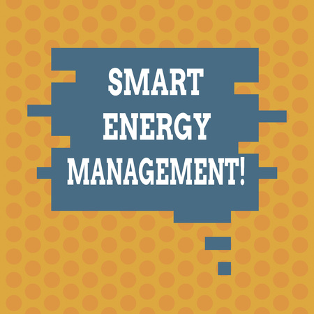 Writing note showing Smart Energy Management. Business photo showcasing Lessen consumer dependence on conventional energy Speech Bubble in Puzzle Piece Shape for Presentation Ads