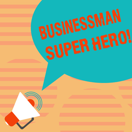 Word writing text Businessanalysis Super Hero. Business concept for assumes the risk of a business or enterprise Megaphone with Sound Volume Icon and Blank Color Speech Bubble photo