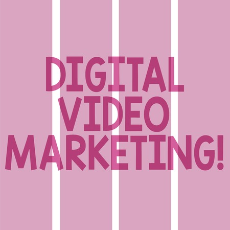 Text sign showing Digital Video Marketing. Conceptual photo uses of video contents to promote a brand or product Rectangular Color Label Strips Blank Text Space for Presentation Posters Stock Photo
