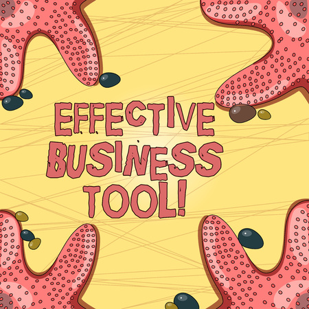 Writing note showing Effective Business Tool. Business photo showcasing used to control and improve business processes Starfish on Four Corners with Pebbles for Poster Ads Cards Stock Photo