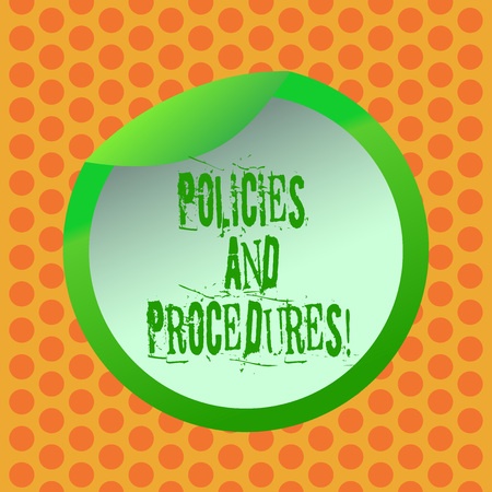 Writing note showing Policies And Procedures. Business photo showcasing Set of rules guidelines created by any organization Bottle Packaging Lid Carton Container Easy to Open Cover Stock Photo