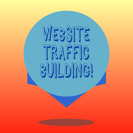 Handwriting text Website Traffic Building. Concept meaning cookies allow marketers to follow web users Blank Color Circle Floating photo with Shadow and Design at the Edge Stockfoto