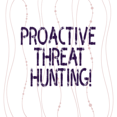 Text sign showing Proactive Threat Hunting. Conceptual photo focused and iterative approach to searching out Vertical Curved String Free Flow with Beads Seamless Repeat Pattern photo