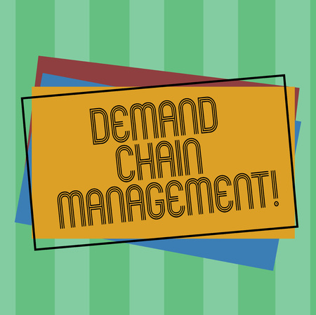 Word writing text Deanalysisd Chain Management. Business concept for Relationships between suppliers and customers Pile of Blank Rectangular Outlined Different Color Construction Paper