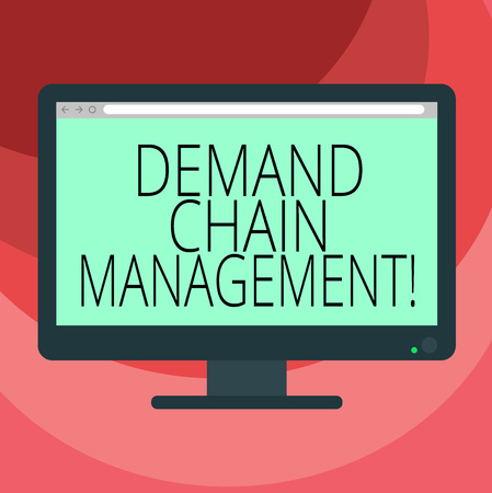 Text sign showing Deanalysisd Chain Management. Conceptual photo Relationships between suppliers and customers Blank Computer Desktop Monitor Color Screen Mounted with Progress Bar