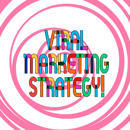 Conceptual hand writing showing Viral Marketing Strategy. Business photo showcasing create a more approachable and authentic brand Multiple Layers of Circle Concentric Converging Spiraling