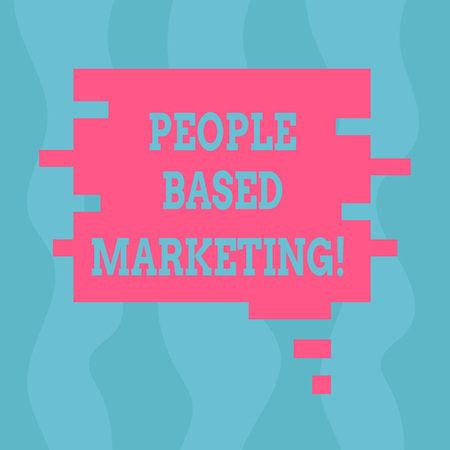 Conceptual hand writing showing People Based Marketing. Business photo text Marketing centered around the individual consumer Speech Bubble in Puzzle Piece Shape for Presentation Ads