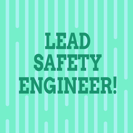 Conceptual hand writing showing Lead Safety Engineer. Business photo text develop policies to ensure safety of an all concerns Vertical Thin Linear Strip Broken Rod in Seamless Repeat Pattern