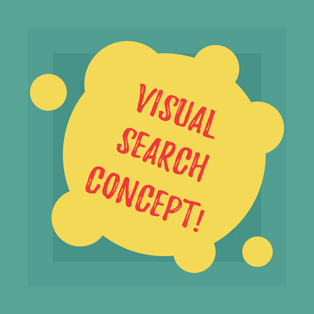 Conceptual hand writing showing Visual Search Concept. Business photo showcasing perceptual task requiring attention for an object Blank Deformed Color Round Shape with Small Circles 版權商用圖片