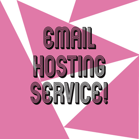 Word writing text Email Hosting Service. Business concept for Internet hosting service that operates email server Three Sides Geometrical Color Shape in Seamless Random Pattern photo