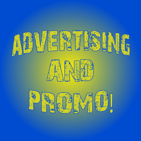 Word writing text Advertising And Promo. Business concept for Informing the prospects about special discounts Light Flashing Glowing with Round Blurry Ray Beam photo Blank Space