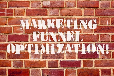 Word writing text Marketing Funnel Optimization. Business concept for Improving the customer acquisition campaign Banco de Imagens