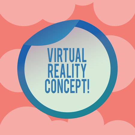 Writing note showing Virtual Reality Concept. Business photo showcasing artificial environment that is created with software Bottle Packaging Lid Carton Container Easy to Open Cover 写真素材