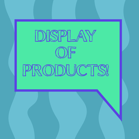 Conceptual hand writing showing Display Of Products. Business photo showcasing way attract and entice buying public using show Blank Deformed Color Round Shape with Small Circles Stock Photo