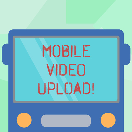 Conceptual hand writing showing Mobile Video Upload  Business