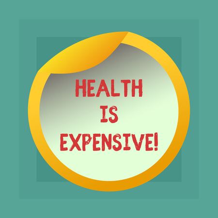 Conceptual hand writing showing Health Is Expensive. Business photo showcasing take care body eat healthy play sport prevent injury Bottle Packaging Lid Carton Container Easy to Open Cover