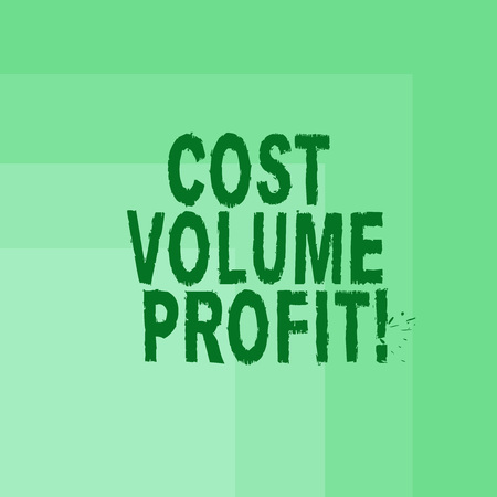 Word writing text Cost Volume Profit. Business concept for form of cost accounting and It is simplified model Blank Monochrome Square with Seamless Multiple Border in One Corner Foto de archivo